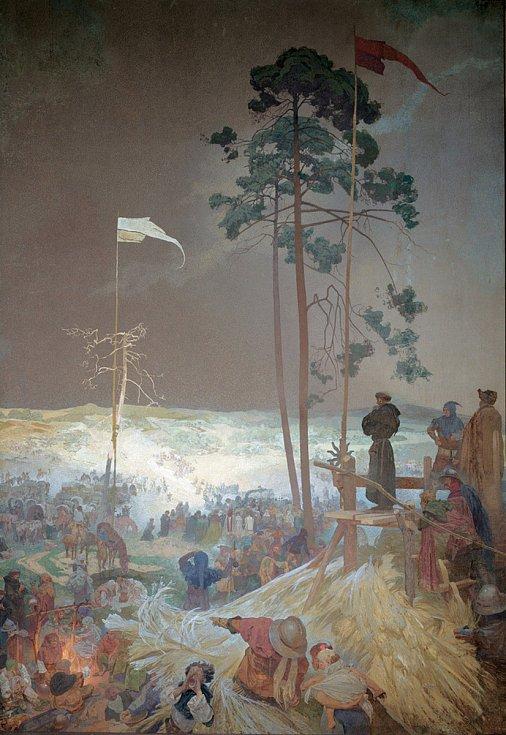 Schůzka Na Křížkách, Alfons Mucha.