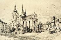 Obnova kostela Nanebevzetí Panny Marie ve Zlonicích, datováno rokem 1892.