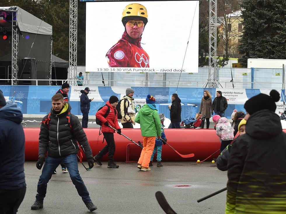 Olympijský festival v areálu brněnského výstaviště.