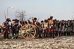 Tisíce lidí se přišly podívat na připomínkovou bitvu u Slavkova na poli nedaleko Tvarožné.