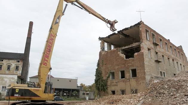 Demolice v areálu Vlněny v Brně. Ilustrační foto.