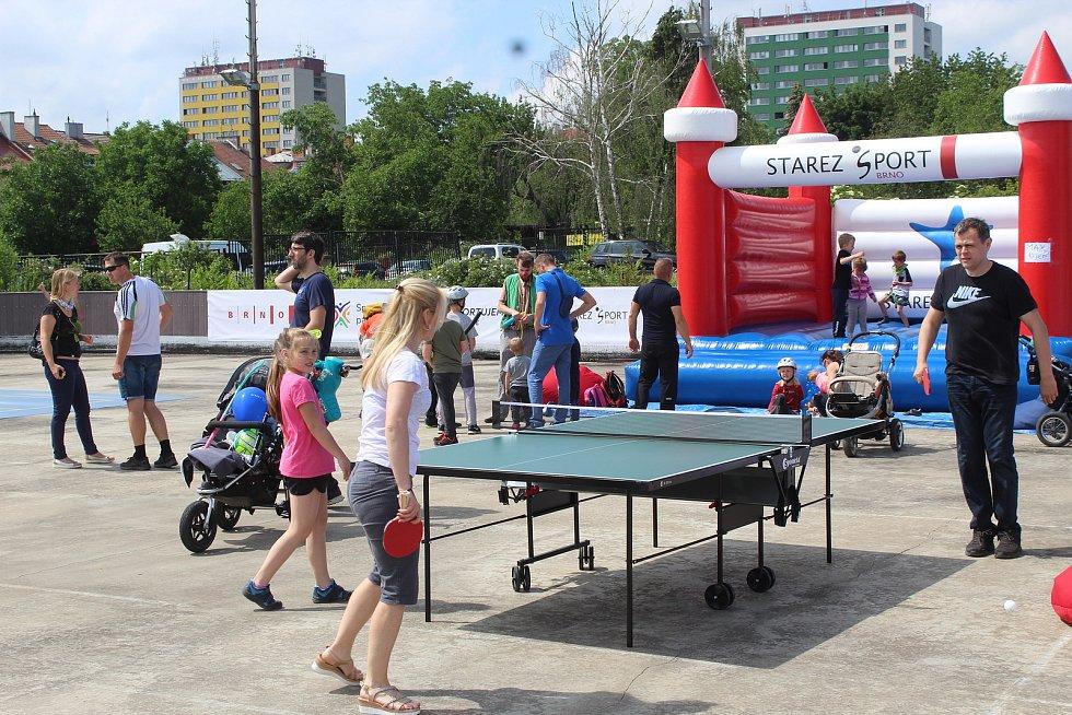Sportovní park Vodova v brněnském Králově Poli.