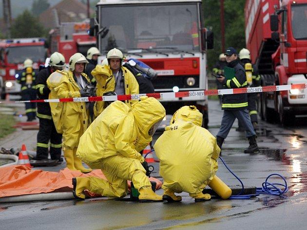 Cvičení všech složek integrovaného záchranného systému v Ivančicích