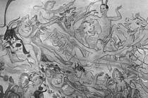 Oslava slunovratu. Obraz vznikl za války na právnické fakultě.