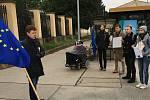 Lidé protestovali proti Nočním vlkům v Brně