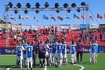 Čeští reprezentanti v malém fotbalu.