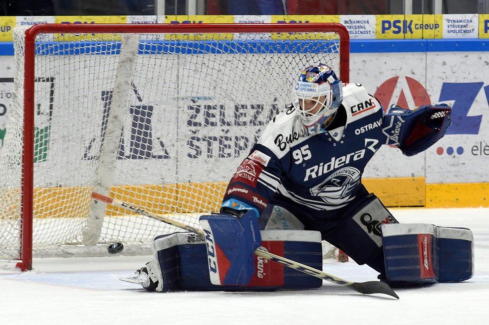 Domácí HC Kometa Brno v bílém proti HC Vítkovice Ridera (Miroslav Svoboda)