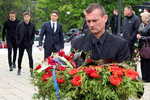 Pohřeb fotbalisty Josefa Šurala.