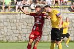 Rosice 27.08.2019 - 2. kolo MOL CUPU mezi domácím Slovanem Rosice ve žlutém a Sigmou Olomouc (Martin Nešpor)