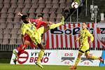 Brno 18.10.2019 - domácí FC Zbrojovka Brno proti FK Varnsdorf