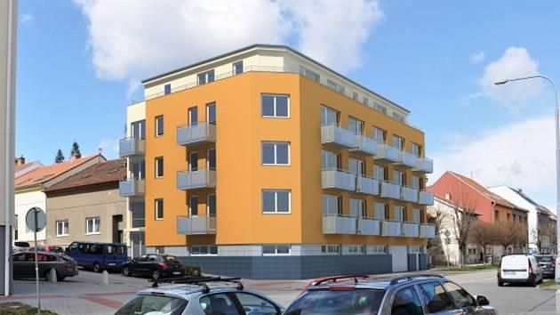 Vizualizace novostavby bytového domu v brněnské čtvrti Ponava.