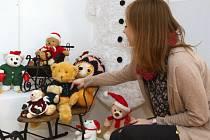 Výstava Není dítka bez medvídka ve Šlapanicích.