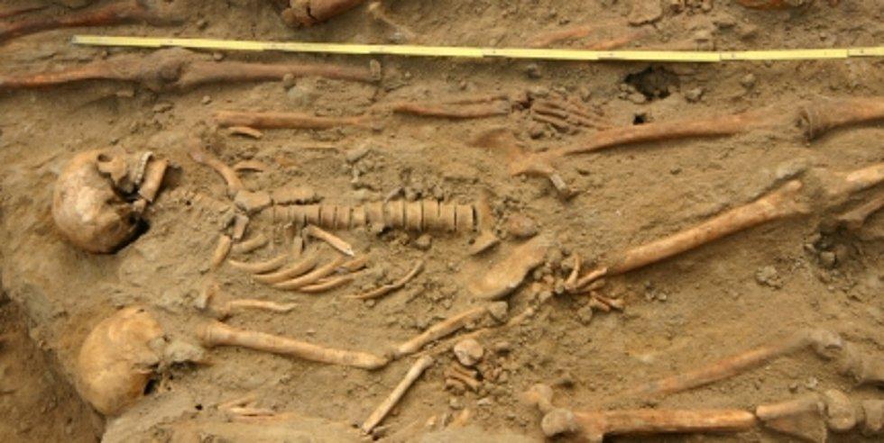 Hroby pruských vojáků, kteří na nemoc zemřeli, odkryli archeologové v Trtílkově ulici v Brně.