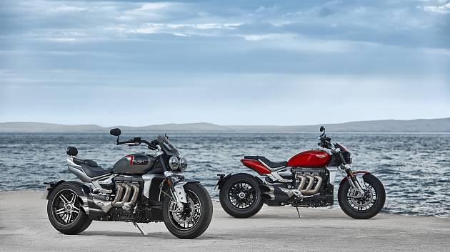 Nové modely Rocket 3 R & GT britské motocyklové značky Triumph.