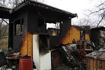 V Brněnských Ivanovicích v neděli dopoledne hořela chatka.