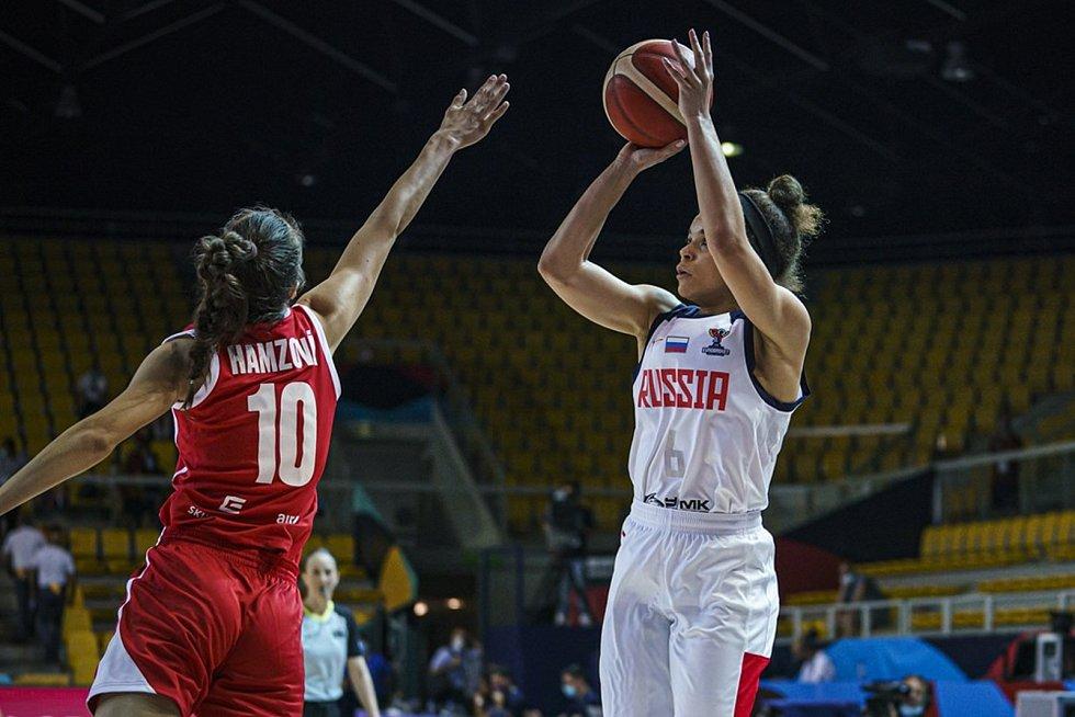 Česká reprezentantka Eliška Hamzová na evropském šampionátu.