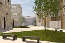 Návrh budoucí zástavby území areálu Jaselských kasáren. Jeho podoba se bude ještě měnit podle požadavků města.
