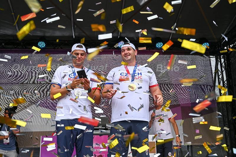 Olympionici Jiří Lipták a David Kostelecký dorazili do Brna na olympijský festival.