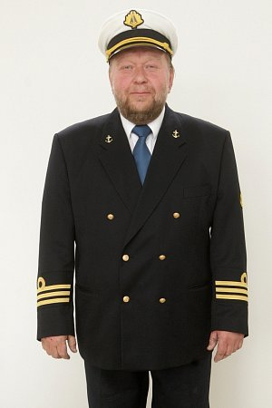 Kapitán lodí Dopravního podniku města Brna Josef Chládek.