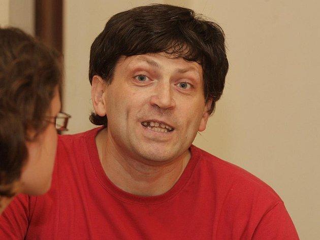 Petr Kolařík u brněnského krajského soudu.