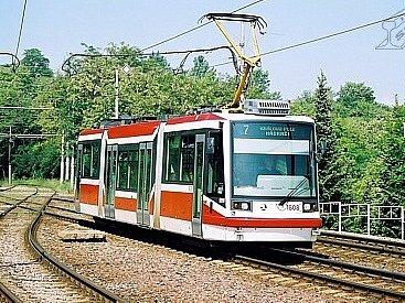 Tramvaj Anitra, kterou používá Dopravní podnik města Brna.
