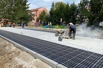 Revitalizace komunikací v Husově čtvrti v Rosicích. Ilustrační foto