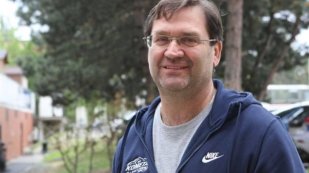 Brno 14.5.2019 - hlavní trenér hokejové Komety Brno Petr Fiala
