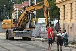 Rekonstrukce části ulice Údolní v Brně.