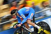 Pavel Kelemen ve sprintu na mistrovství světa v dráhové cyklistice.