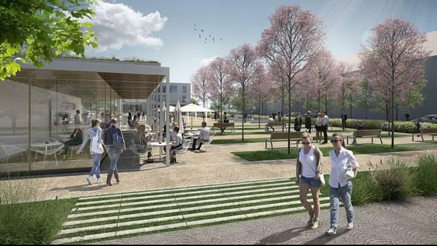 Možná nová podoba kuřimského náměstí Osvobození.