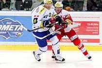 Hokejisté Komety porazili Slavii 5:2.