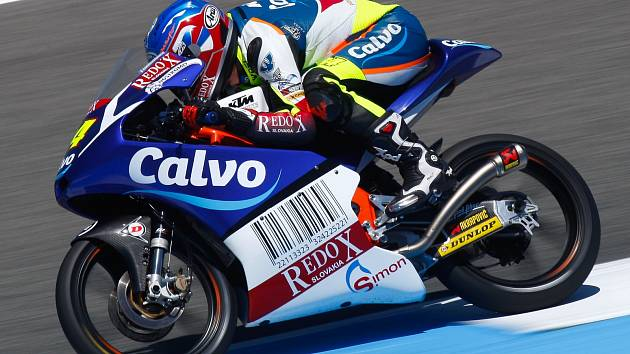 Jihomoravskyý motocyklový jezdec Jakub Kornfeil závodící za tým Calvo.