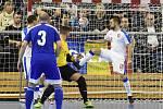 Kvalifikační turnaj na futsalové MS 2020 - ČR Tomáš Vnuk (bílá) Kazachstán (modrá)