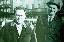 Milan Uhde s Janem Zábranou, období šedesátých let.