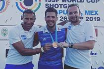Bronzová medaile na Světovém poháru v Acapulcu ve skeetu. Kometa Brno, Vnorovy na Hodonínsku