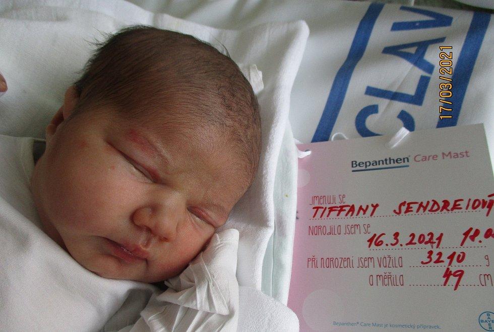 Tiffany Sendreiová, 16. 3. 2021, Lanžhot, Nemocnice Břeclav, 3210 g, 49 cm