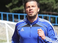 Znojemský fotbalista Milan Pacanda.