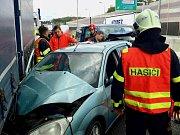 Nehoda zablokovala dálnici D1 u Brna.