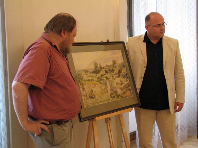 Odhalení studie k obrazu Zdeňka Buriana Neolitičtí Zemědělci
