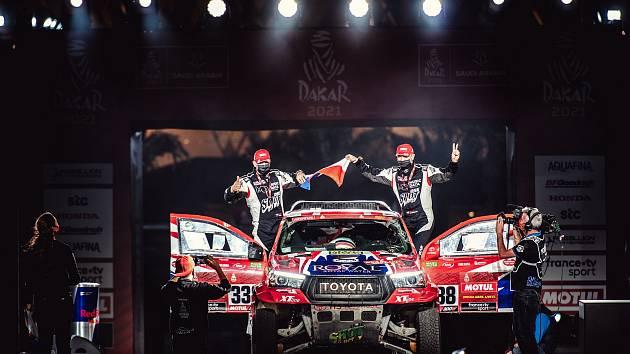 Tomáš Ouředníček se s Davidem Křípalem dostali přes množství trablí až na cílovou rampu tohoto ročníku Rallye Dakar.