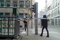 Snímky studenta zachycující hotel a jeho okolí po úterních ranních teroristických útocích.