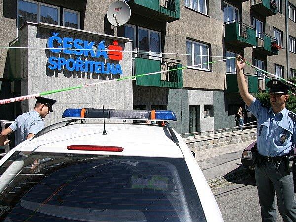 Vyšetřování na místě činu. Česká spořitelna na Provazníkově ulici