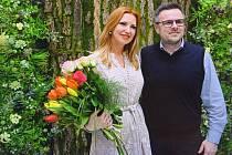 Brňanka Andrea Nováková s ředitelem Masarykova onkologického ústavu Markem Svobodou.