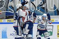 Snímek ze zápasu hokejové Komety Brno proti Liberci v předčasně ukončené sezoně 2019/2020.