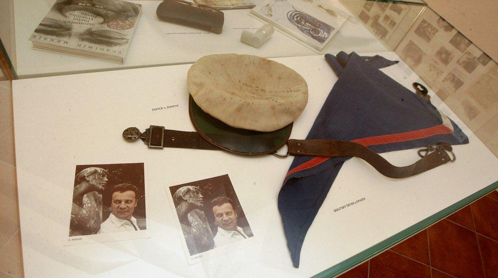 Expozice v Ivančicích věnovaná Vladimíru Menšíkovi.