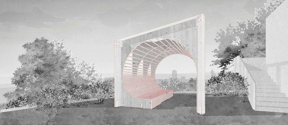 Altán pro onkologické pacienty navrhli studenti architektury brněnské techniky.