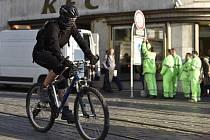 Cyklista v centru Brna. Ilustrační foto