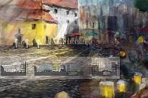 Vítězný návrh plánované podoby Římského náměstí v Brně.