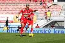 4. kolo FORTUNA:LIGY: FC Zbrojovka Brno (červená - Koudelka) - SK Sigma Olomouc 2:4.