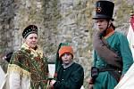Vojenské ukázky z napoleonské doby viděli v sobtou návštěvníci areálu hradu Veveří.